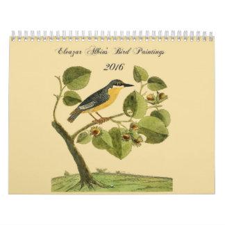 Eleazar Albin's Bird Paintings 2016 Calendar