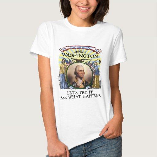 Elección 1789 de George Washington (la luz de las  Tee Shirt