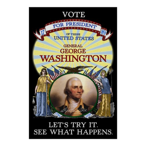Elección 1789 de George Washington Póster