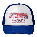 Elección 1972 de Nixon Gorras