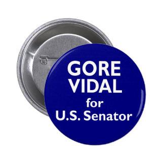Elección 1982 de California del senado de Gore Vid Pin Redondo De 2 Pulgadas