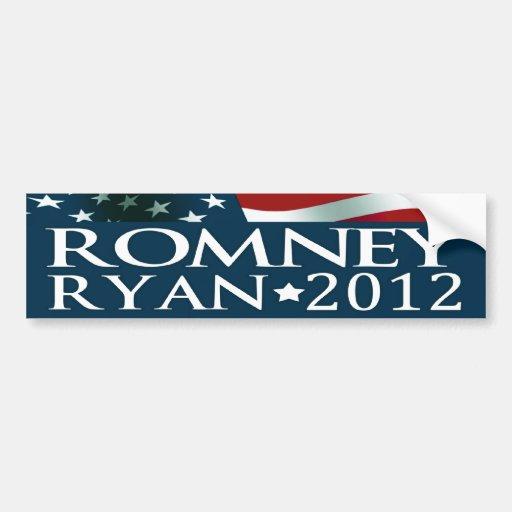 Elección 2012 de Mitt Romney Paul Ryan Etiqueta De Parachoque