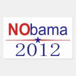 Elección 2012 de NObama Pegatina