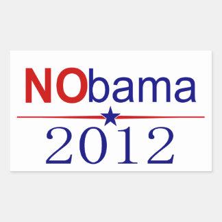 Elección 2012 de NObama Pegatina Rectangular