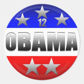 Elección 2012 de Obama 12 Obama Etiquetas Redondas