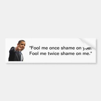 Elección 2012 de Obama engañada Pegatina Para Auto
