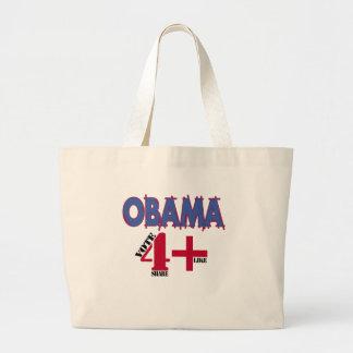 Elección 2012 de Obama v3 Bolsa Tela Grande