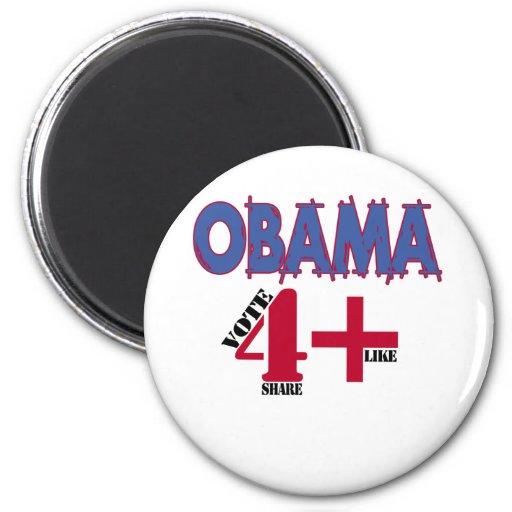Elección 2012 de Obama v3 Imán Para Frigorifico