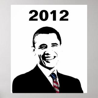 Elección 2012 de presidente Obama Póster