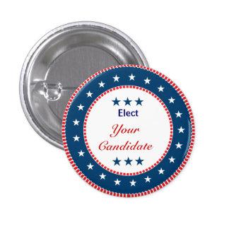 Elección 2012 del voto pin redondo 2,5 cm