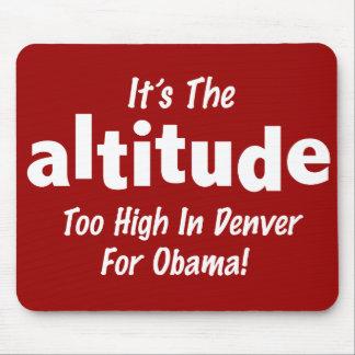 Elección 2012 Obama anti es la altitud Alfombrillas De Ratones