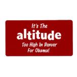 Elección 2012 Obama anti es la altitud Etiqueta De Envío