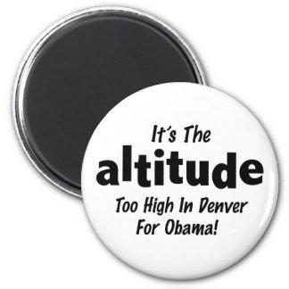 Elección 2012 Obama anti es la altitud Imán Redondo 5 Cm