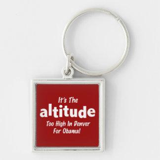 Elección 2012 Obama anti es la altitud Llavero Cuadrado Plateado