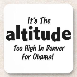 Elección 2012 Obama anti es la altitud Posavasos De Bebida