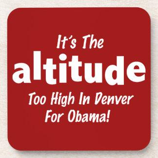 Elección 2012 Obama anti es la altitud Posavasos De Bebidas
