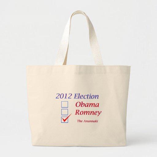 Elección 2012 Obama Romney Anunnaki Bolsa Tela Grande