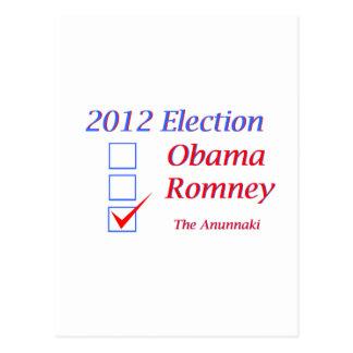 Elección 2012 Obama Romney Anunnaki Postales