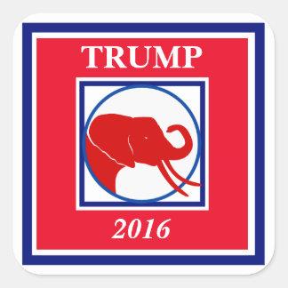 Elección 2016 del elefante de Bull del triunfo Pegatina Cuadrada
