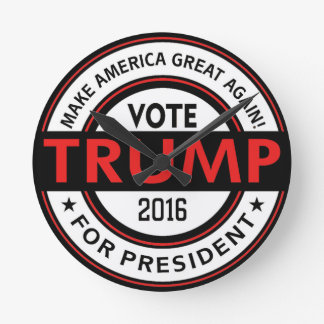 Elección 2016 del presidente los E.E.U.U. del Reloj Redondo Mediano