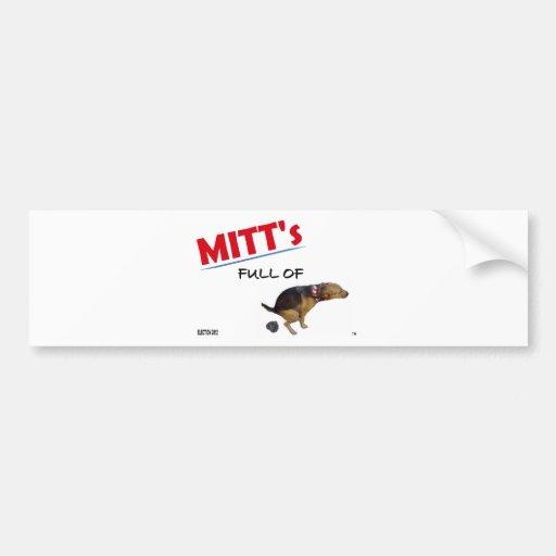 Elección anti 2012 de Mitt Romney Pegatina De Parachoque