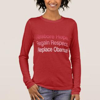 Elección anti 2012 de Obama Playera De Manga Larga