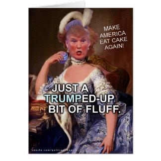 Elección anti 2016 de Donald Trump Marie Antonieta Tarjeta De Felicitación