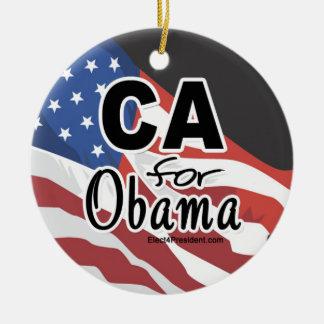 Elección California para Obama Adorno Navideño Redondo De Cerámica