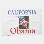 Elección California para Obama Toalla De Cocina