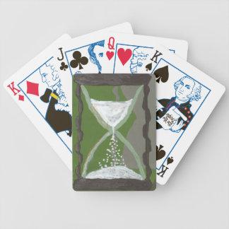 Elección de la cuenta descendiente del reloj de baraja de cartas