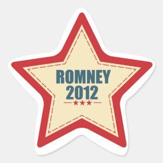 Elección de la estrella de Mitt Romney 2012 Pegatina En Forma De Estrella