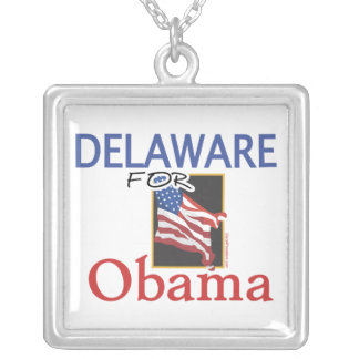 Elección Delaware para Obama Collar Plateado