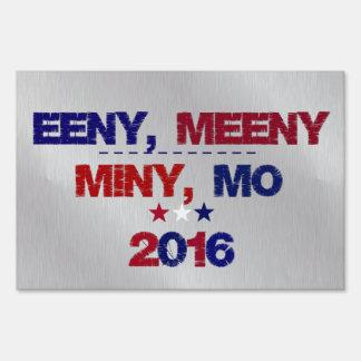 Elección divertida 2016 indecisos letrero
