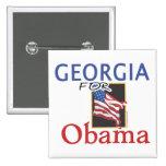 Elección Georgia para Obama Pins
