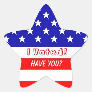 Elección I votado sobre los pegatinas de la estrel