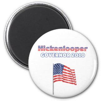Elección patriótica 2010 de la bandera americana d imán redondo 5 cm