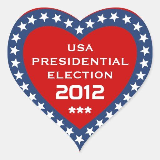 Elección presidencial 2012 de los E.E.U.U. Colcomanias De Corazon