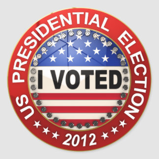 Elección presidencial 2012 que voté pegatina redonda