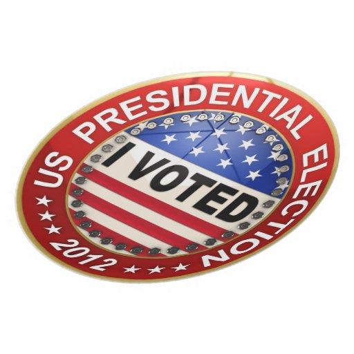 Elección presidencial 2012 que voté platos de comidas