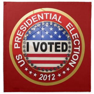 Elección presidencial 2012 que voté servilleta imprimida