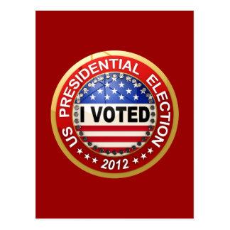 Elección presidencial 2012 que voté tarjetas postales