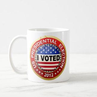 Elección presidencial 2012 que voté taza de café