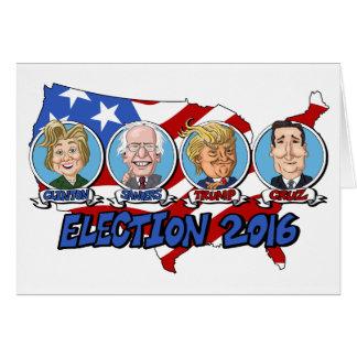 Elección presidencial 2016 tarjeta de felicitación