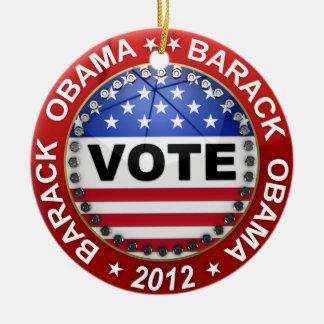 Elección presidencial Barack Obama 2012 Adorno Navideño Redondo De Cerámica