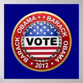 Elección presidencial Barack Obama 2012 Posters