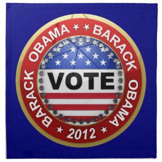 Elección presidencial Barack Obama 2012 Servilleta De Papel