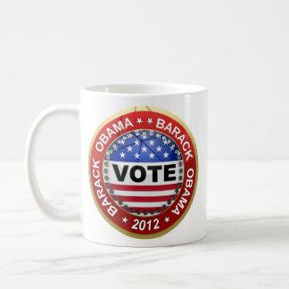 Elección presidencial Barack Obama 2012 Taza Básica Blanca