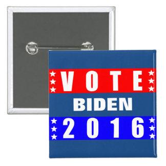 Elección presidencial de Biden 2016 del voto Pin Cuadrada 5 Cm