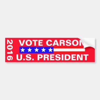 Elección presidencial de Carson 2016 del voto Pegatina Para Auto