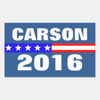 Elección presidencial de Carson 2016 del voto Pegatina Rectangular